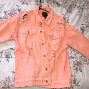 Neon orange forever 21 Jean jacket